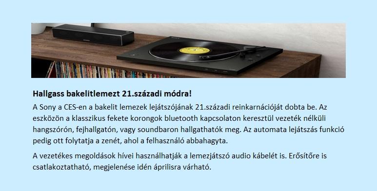 Bakelit lemez és a soundbar
