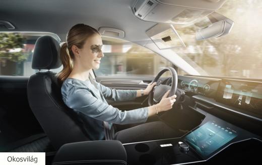 Az autósok elvakítását gátolja a virtuális napellenző