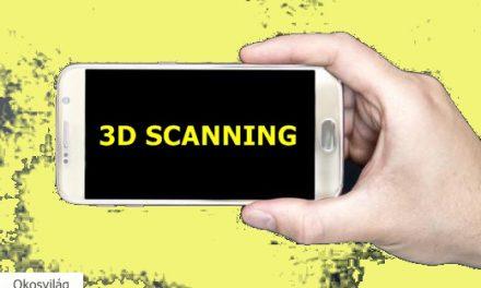 A jövő okostelefonjait már 3D-szkennelésre is használhatjuk