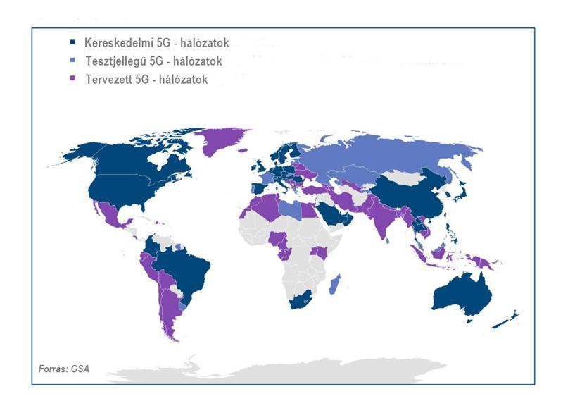 A világ 5G hálózatok alakulása